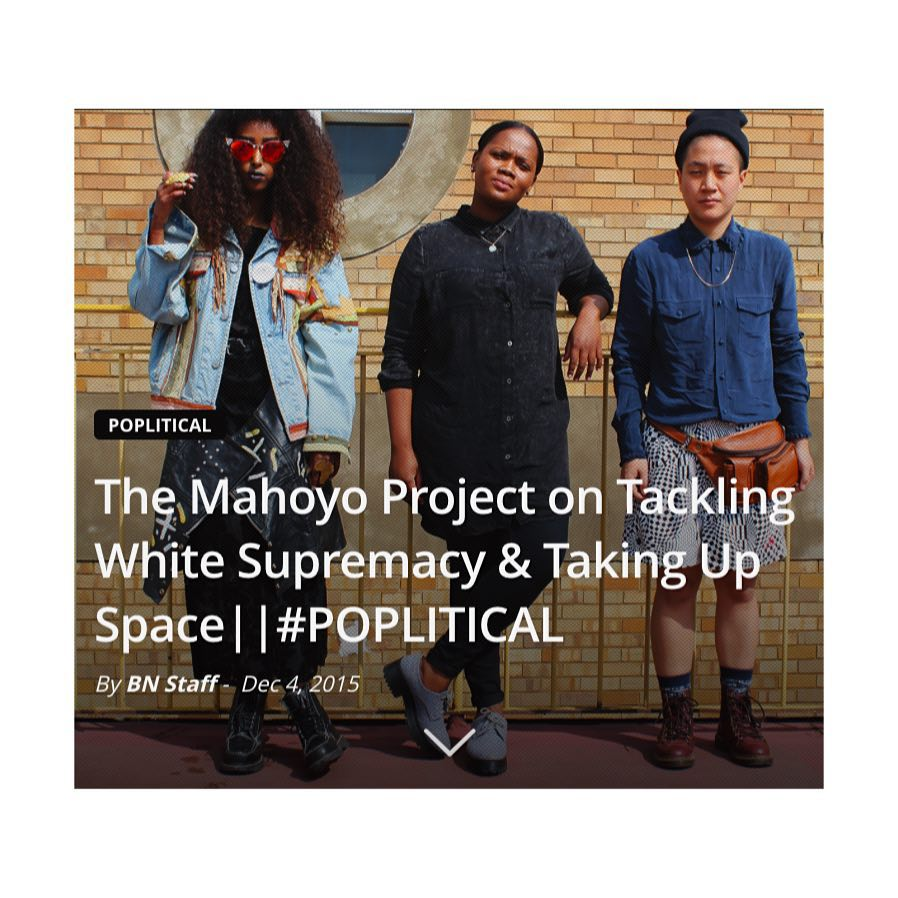 """""""Mahoyo is a place where we can go to just """"be"""", collectively that is where we find our sense of freedom."""" Shout out to the super dope  @blacknation_za crew for this piece"""